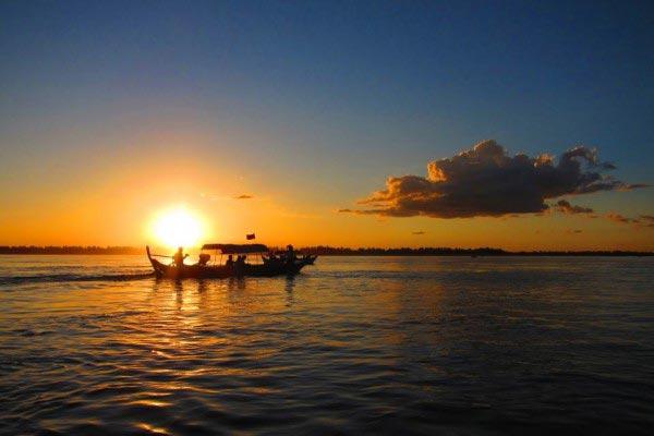 Solnedgang Kratie Cambodia