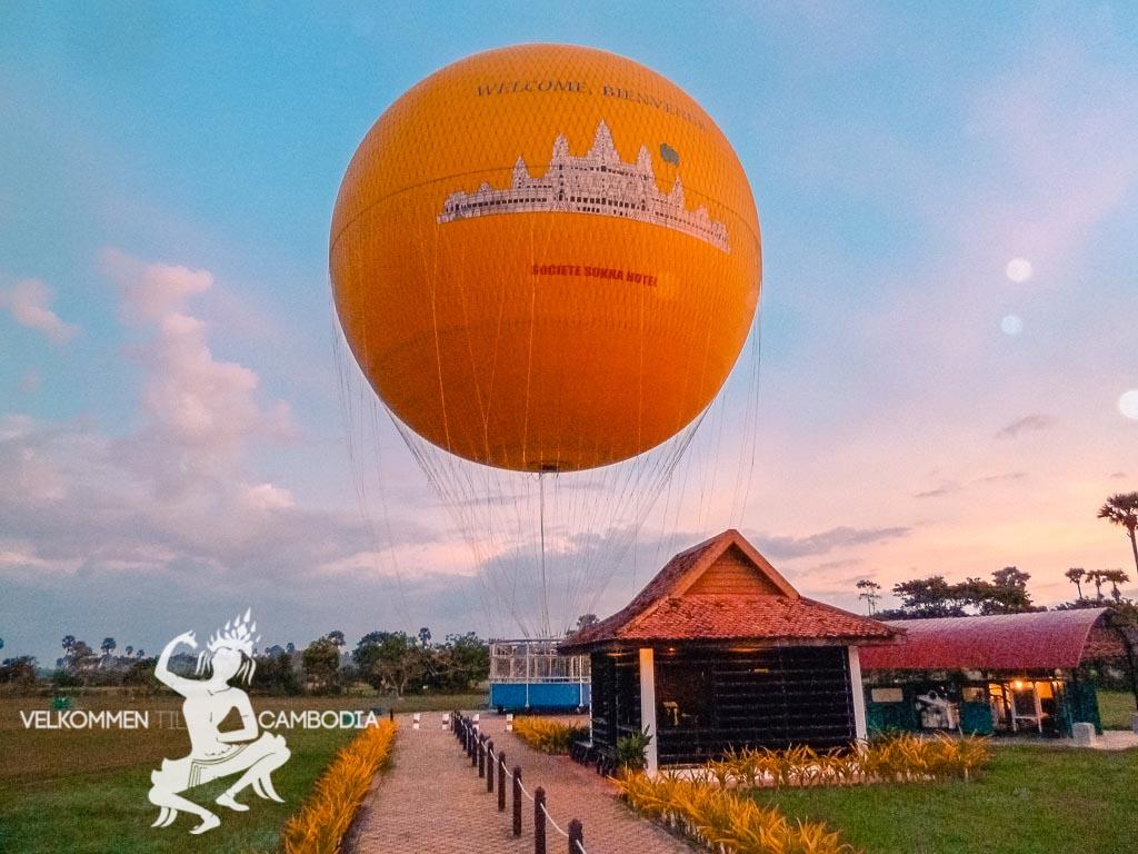 Luftballon Solopgang Siem Reap Cambodia