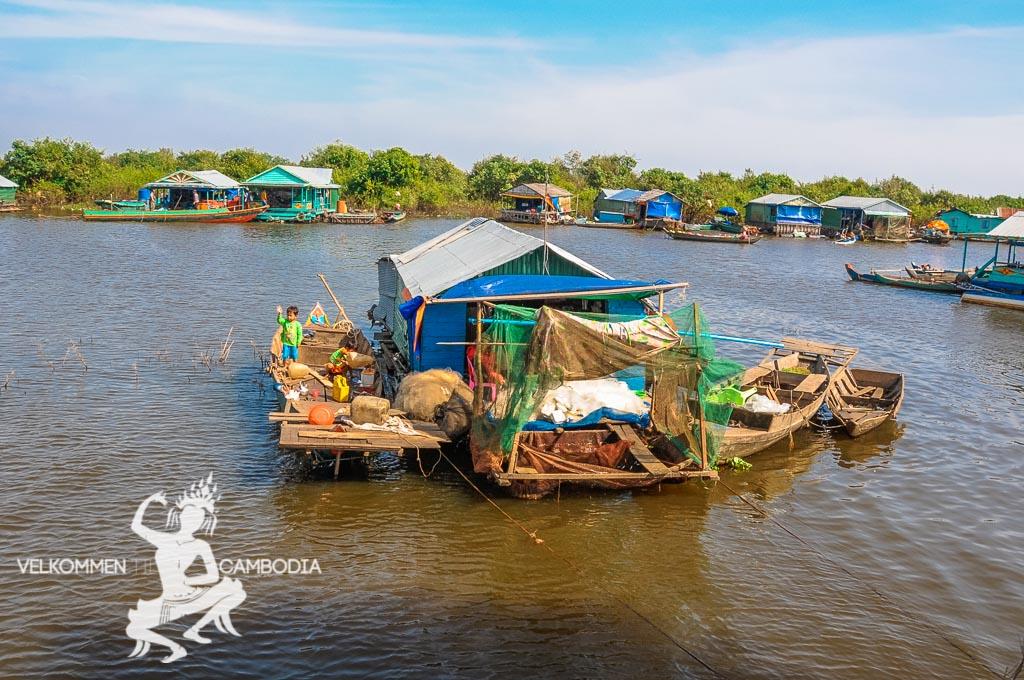 Tonle Sap søen Siem Reap Cambodia