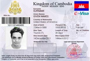 Cambodia Visum